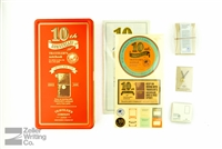 Midori Traveler's Notebook - 10th Anniversary Mini Tin Set - Brown
