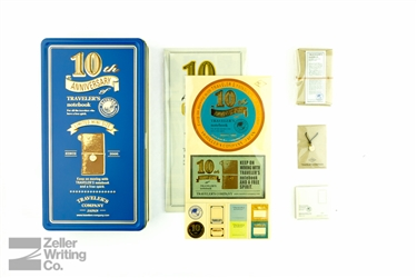 Midori Traveler's Notebook - 10th Anniversary Mini Tin Set - Camel