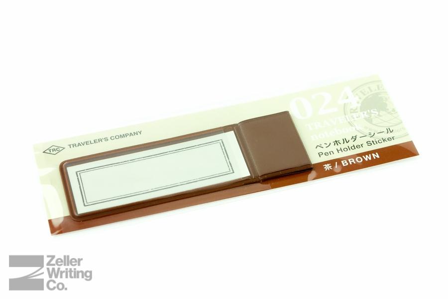 Midori Traveler's Notebook - Refill 024 - Pen Holder Sticker - Brown