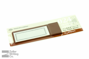 Midori Traveler's Notebook - Refill 024 - Pen Holder Sticker - Brown