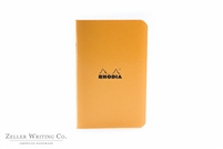 Rhodia Classic Side Staplebound Notebook - 3 x4.75 - Orange - Graph