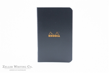 Rhodia Classic Side Staplebound Notebook - 3 x4.75 - Black - Graph