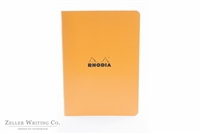 Rhodia Classic Side Staplebound Notebook - 5.875 x 8.25 - Orange - Lined