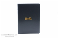 Rhodia Classic Side Staplebound Notebook - 5.875 x 8.25 - Black - Lined