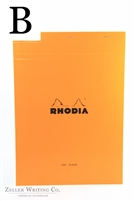 Rhodia Top Staplebound - Blank - 8.25in x 11.75in - Orange