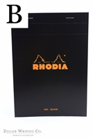 Rhodia Top Staplebound - Blank - 5.875in x 8.375in - Black