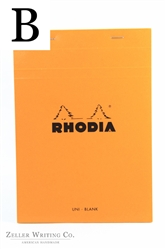 Rhodia Top Staplebound - Blank - 5.875in x 8.375in - Orange