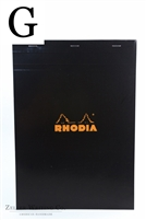 Rhodia Top Staplebound - Graph - 8.25in x 11.75in - Black
