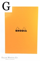 Rhodia Top Staplebound - Graph - 8.25in x 11.75in - Orange