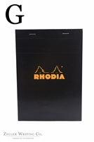 Rhodia Top Staplebound - Graph - 5.875in x 8.375in - Black