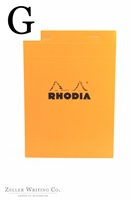 Rhodia Top Staplebound - Graph - 5.875in x 8.375in - Orange