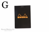 Rhodia Top Staplebound - Graph - 3.375in x 4.75in - Black