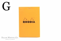Rhodia Top Staplebound - Graph - 3.375in x 4.75in - Orange