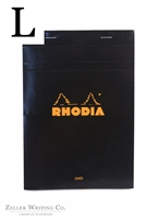 Rhodia Top Staplebound - LIned - 5.875in x 8.375in - Black