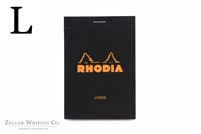Rhodia Top Staplebound - Lined - 3.375in x 4.75in - Black