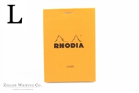Rhodia Top Staplebound - Lined - 3.375in x 4.75in - Orange