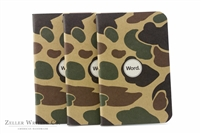 Word Notebooks 3-Pack - Tan Camo
