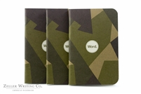 Word Notebooks 3-Pack - Swedish Camo