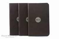 Word Notebooks 3-Pack - Black
