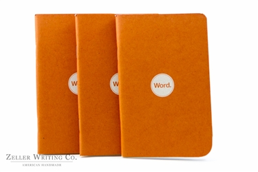 Word Notebooks 3-Pack - Orange