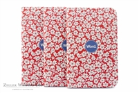 Word Notebooks 3-Pack - Red Floral