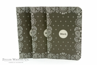 Word Notebooks 3-Pack - Black Bandanna
