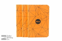 Word Notebooks 3-Pack - Orange Polygon