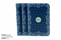Word Notebooks 3-Pack - Blue Bandana