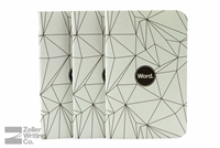 Word Notebooks 3-Pack - Gray Polygon
