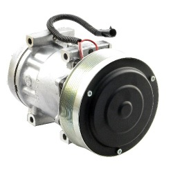 Sanden Compressor, w/ Serpentine Clutch - New