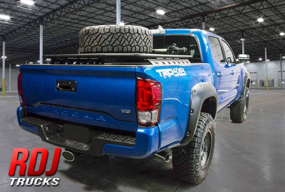 2016 2020 Toyota Tacoma Pro Offroad Bolt On Style Fender Flares By Rdj Trucks 10 6014