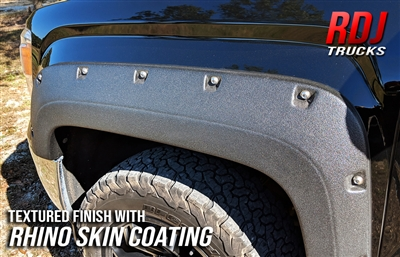 Smooth Paintable OE Black Finish RDJ Trucks PRO-Offroad Bolt-On Style Fender Flares Fits 4Runner 2014-2019 Set of 4
