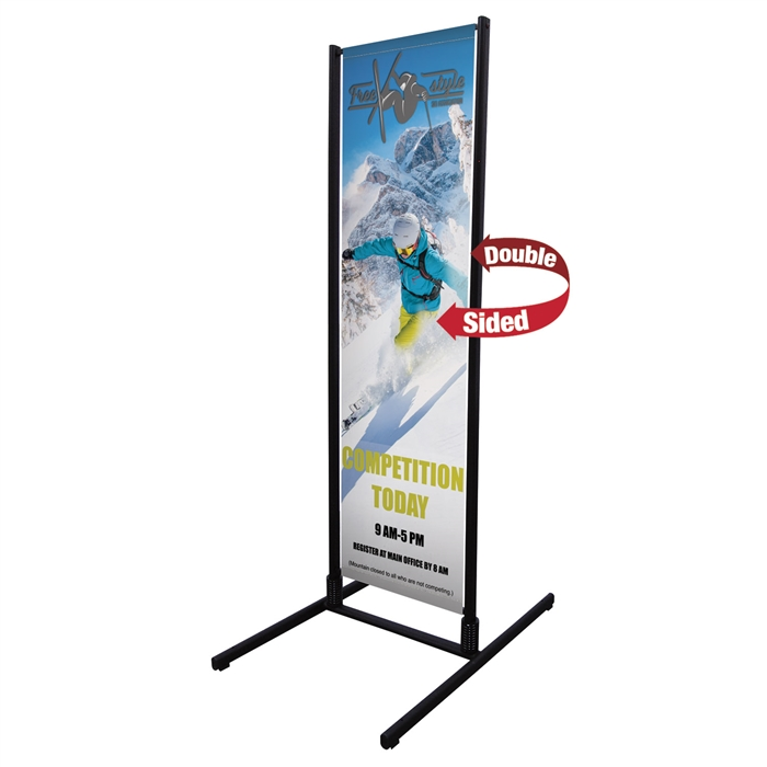 Dual Trak Outdoor Banner Stands