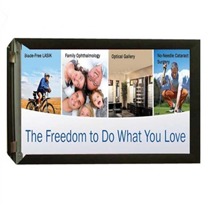 "Wall Banner Frame - 2.5"" Aluminum Flip Up Rail with Backer Panel"