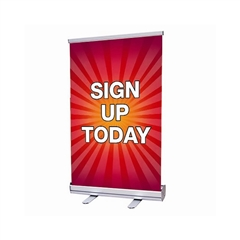 Tabletop Retractable Banner Display