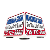Car Top Lighted Delivery Sign - Auto Advertiser