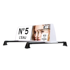 Lighted Top Car Signs | Model 5 Thin Brackets