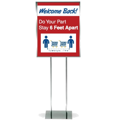 Display Floor Stand Indoor Sign Stands Floor Signs Floor Stand