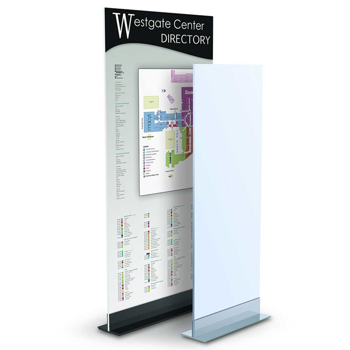Double L Mount Floor Stand Sign Display