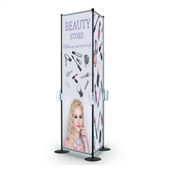 Fixed Width Triangle Tower Banner Display