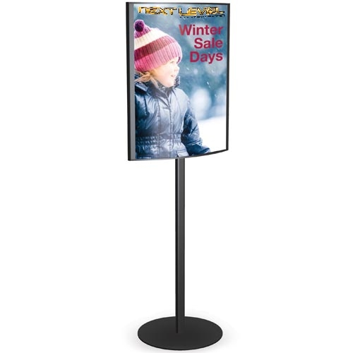 Convex Poster Sign Holder Floor Standing Signs 22x28