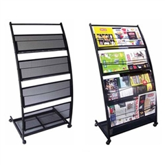 4 Shelf Mobile Literature Display