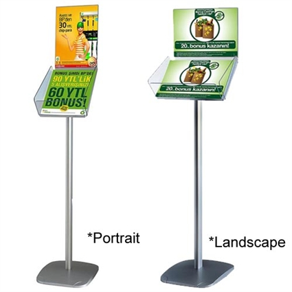 Decorative Brochure Stand with Literature Holders