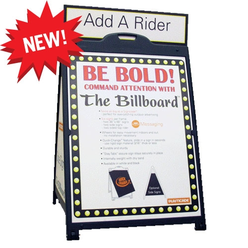The Billboard Plasticade A Frame Sign 36 X 48