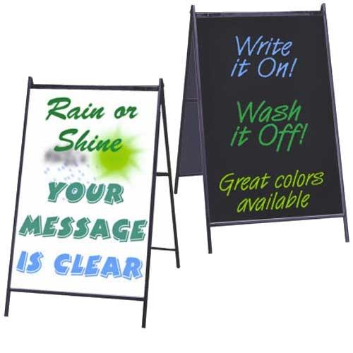 Wet Marker Board A Frame Sign