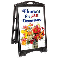 A-Plus Frame Sidewalk Sign, Rolling Base Sidewalk Sign