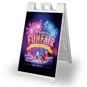 "Signicade Sidewalk Sign with Adhesive Vinyl Prints - 24"" x 36"""