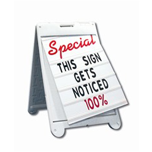 Custom Plastic Signs, Plastic A Frame, Outdoor Plastic Signs
