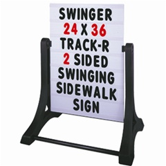 Swinger Sidewalk Sign Message Board