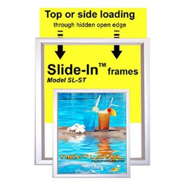 Slide In Poster Frames 1 Rail